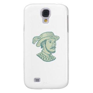 Carcasa Para Galaxy S4 Dibujo del explorador de Juan Ponce de León