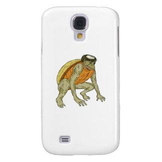 Carcasa Para Galaxy S4 Dibujo que se agacha del monstruo de Kappa