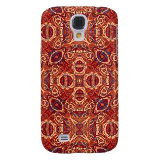 Carcasa Para Galaxy S4 Diseño rizado dibujado mano colorida abstracta del
