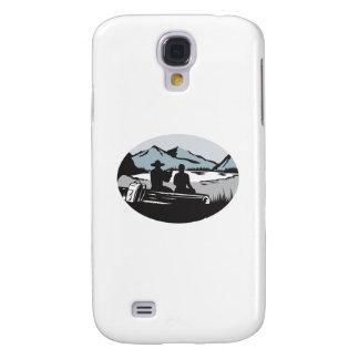 Carcasa Para Galaxy S4 Dos vagabundos que se sientan en óvalo de la