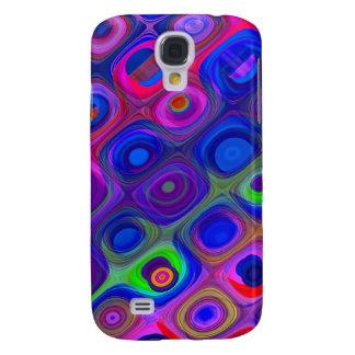 Carcasa Para Galaxy S4 Enrrollado púrpura azul