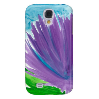 Carcasa Para Galaxy S4 Flor púrpura 1