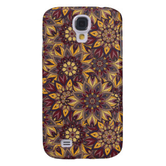 Carcasa Para Galaxy S4 Modelo floral étnico abstracto colorido de la