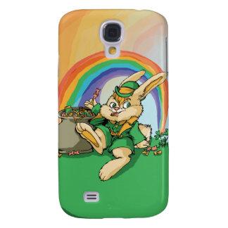 Carcasa Para Galaxy S4 Pequeño conejo divertido de San Patricio