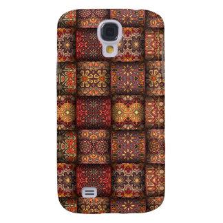 Carcasa Para Galaxy S4 Remiendo del vintage con los elementos florales de