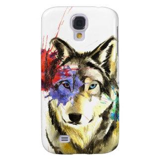 Carcasa Para Galaxy S4 Salpicadura del lobo