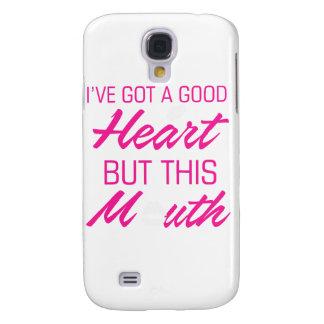 Carcasa Para Galaxy S4 Tengo un buen corazón pero esta boca