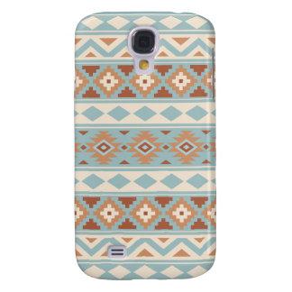 Carcasa Para Galaxy S4 Terracota poner crema azul azteca de Ptn IIIb de