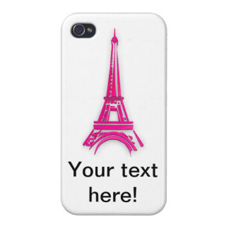 Carcasa Para iPhone 4 3d torre Eiffel, clipart de Francia