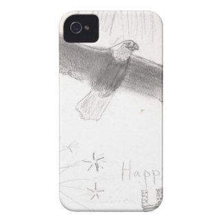 Carcasa Para iPhone 4 4' th del águila calva de los fuegos artificiales