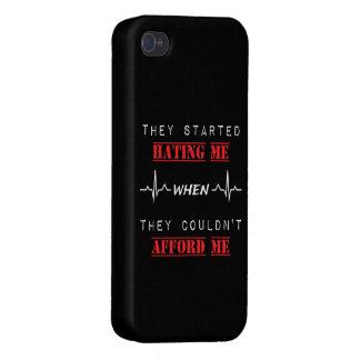 Carcasa Para iPhone 4/4S Cita de la actitud en el caso brillante del final
