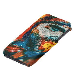 Carcasa Para iPhone 4/4S La señora de gustos coloridos