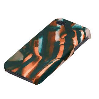 Carcasa Para iPhone 4/4S La señora pintada de los tigres y de las ondas
