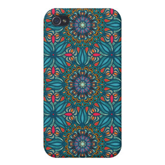 Carcasa Para iPhone 4/4S Modelo floral étnico abstracto colorido de la