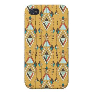 Carcasa Para iPhone 4/4S Ornamento azteca tribal étnico del vintage