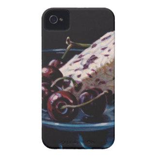 Carcasa Para iPhone 4 Arándano Stilton con las cerezas