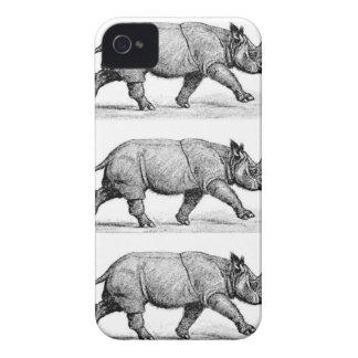Carcasa Para iPhone 4 Arte corriente de los Rhinos