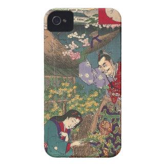 Carcasa Para iPhone 4 Arte hermoso japonés del samurai del geisha