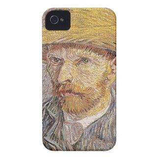 Carcasa Para iPhone 4 Autorretrato con un gorra de paja - Van Gogh