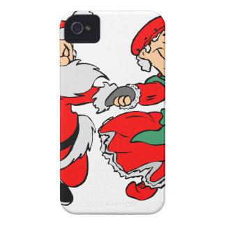 Carcasa Para iPhone 4 Baile Papá Noel