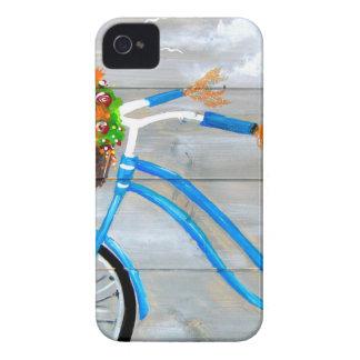Carcasa Para iPhone 4 Bici azul Zazzle