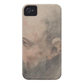 Carcasa Para iPhone 4 Cabeza de un hombre barbudo que mira a la