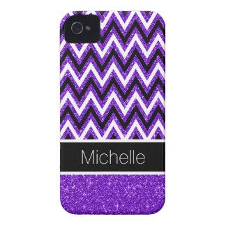 Carcasa Para iPhone 4 Caja púrpura del iPhone 4 de Chevron del negro del