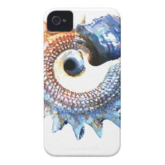 Carcasa Para iPhone 4 Camiseta espiral de oro de la yoga del Seashell de