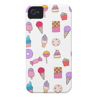 Carcasa Para iPhone 4 Caramelo, dulces y torta