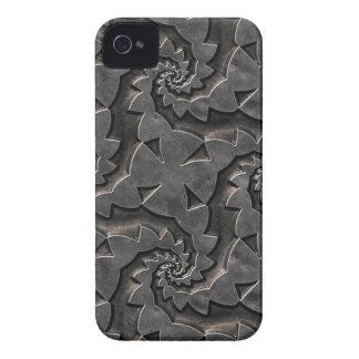 Carcasa Para iPhone 4 Caso metálico de plata del estampado de flores