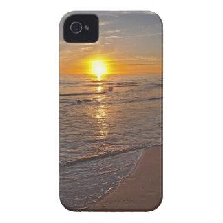 Carcasa Para iPhone 4 Caso: Puesta del sol por la playa
