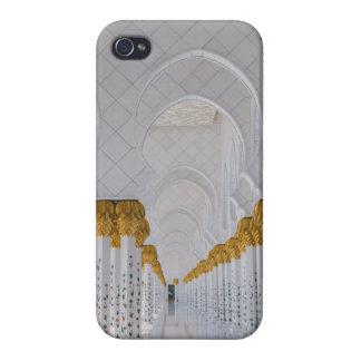 Carcasa Para iPhone 4 Columnas de jeque Zayed Grand Mosque, Abu Dhabi
