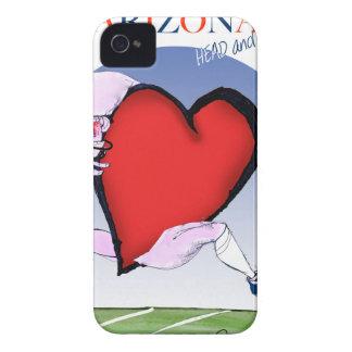 Carcasa Para iPhone 4 corazón principal de Arizona, fernandes tony
