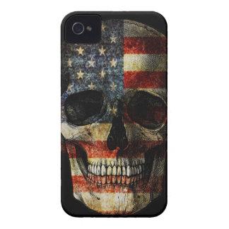 Carcasa Para iPhone 4 Cráneo de la bandera americana