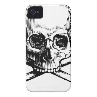 Carcasa Para iPhone 4 Cráneo y huesos