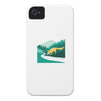 Carcasa Para iPhone 4 Cuadrado de consumición de maderas de la cala del