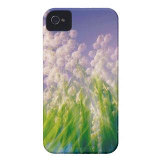 Carcasa Para iPhone 4 Danza del lirio de los valles en azul