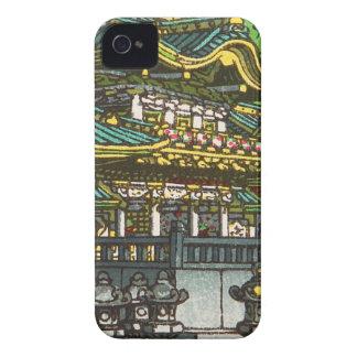 Carcasa Para iPhone 4 De Case-Mate 川瀬巴水 de Kawase Hasui: Capilla de Toshogu en Nikko