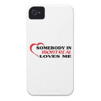 Carcasa Para iPhone 4 De Case-Mate Alguien en Montreal me ama