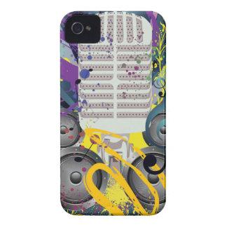 Carcasa Para iPhone 4 De Case-Mate Altavoz del Grunge y Microphone3