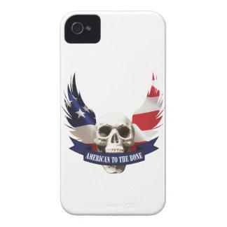 Carcasa Para iPhone 4 De Case-Mate Americano al cráneo del hueso