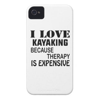Carcasa Para iPhone 4 De Case-Mate Amo el Kayaking porque la terapia es costosa