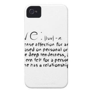Carcasa Para iPhone 4 De Case-Mate Amor