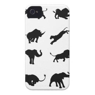 Carcasa Para iPhone 4 De Case-Mate Animal africano del safari de la silueta