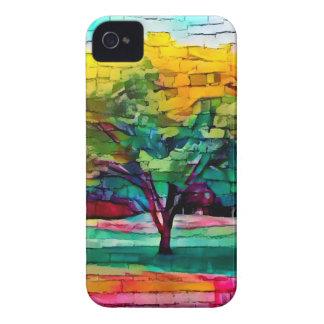 Carcasa Para iPhone 4 De Case-Mate Árbol del otoño en colores vivos