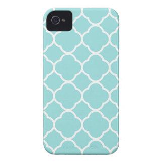 Carcasa Para iPhone 4 De Case-Mate Azul Quatrefoil de Shell de la lapa