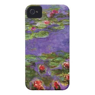 Carcasa Para iPhone 4 De Case-Mate Bella arte de Claude Monet de los lirios de agua