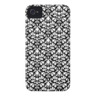 Carcasa Para iPhone 4 De Case-Mate Blanco del modelo del damasco del Flourish en