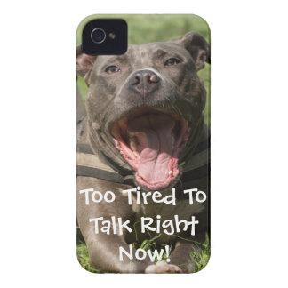 Carcasa Para iPhone 4 De Case-Mate Brown Editable Pitbull en hierba