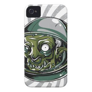 Carcasa Para iPhone 4 De Case-Mate cara asustadiza del zombi del vintage